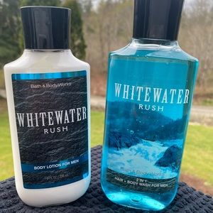 B&BW Whitewater Rush men's lotion and shower gel